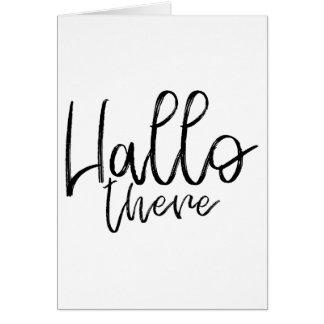 Cartão Olá! palavras lá de fala