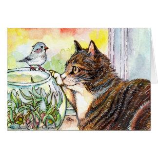 Cartão Olá! pássaro pequeno