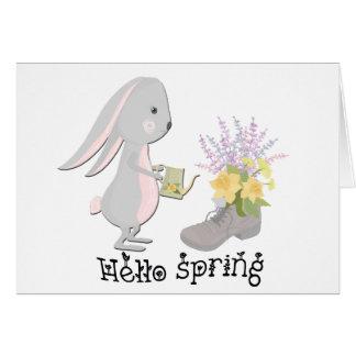 Cartão olá! primavera
