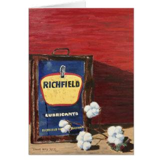 Cartão Óleo & algodão