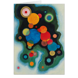 Cartão Óleo aprofundado do abstrato do impulso em canvas