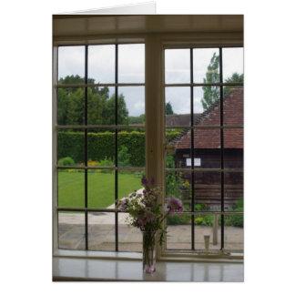 Cartão Olhando para fora a janela de Jane Austen em