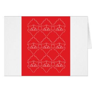 Cartão Olhar velho dos astecas dos elementos do design