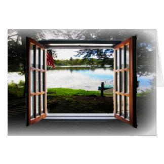 Cartão Olhe através da janela