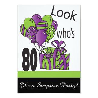 Cartão Olhe quem é aniversário do 80 de 80% pipe%