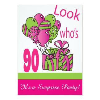 Cartão Olhe quem é aniversário do 90 de 90% pipe%