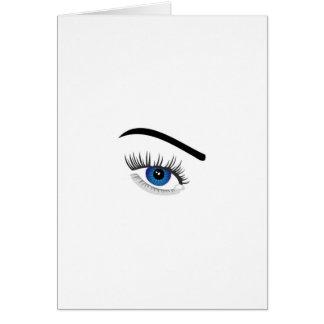 Cartão Olho com lente de contato