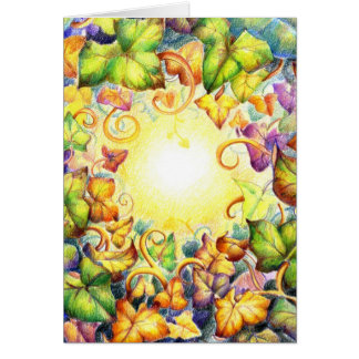 Cartão Olho da hera do arco-íris