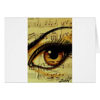 Cartão Olho da música de Brown