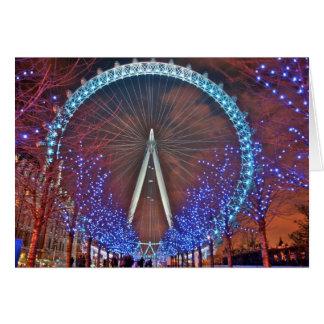 Cartão Olho de Londres na noite