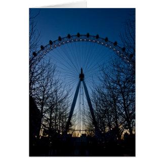 Cartão Olho de Londres no crepúsculo