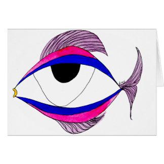Cartão Olho de peixes Notecard