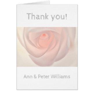 Cartão Olho do rosa do rosa