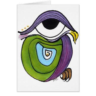 Cartão Olho, papagaio Notecard