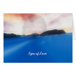Cartão Olhos do amor