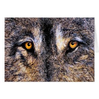Cartão Olhos do lobo