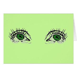 Cartão Olhos verdes