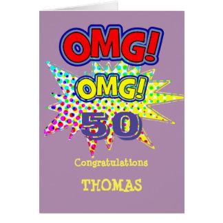 Cartão OMG! Como aniversário cómico engraçado velho do