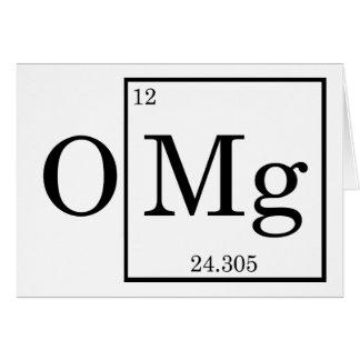 Cartão OMG - Magnésio - magnésio - mesa periódica