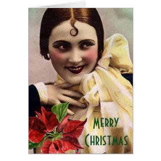 Cartão Onda em seu Natal da testa