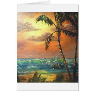 Cartão Onda tropical