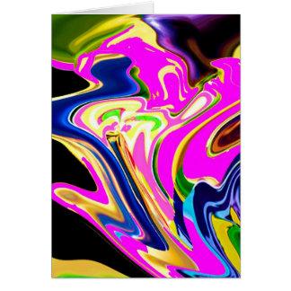 Cartão Ondas cor-de-rosa do dom: Felicidade, sorrisos da