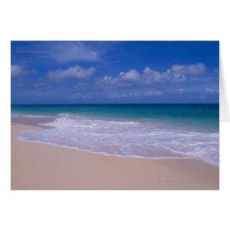Cartão Ondas de oceano que espumam no Sandy Beach