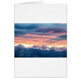 Cartão Ondas do por do sol da montanha rochosa de