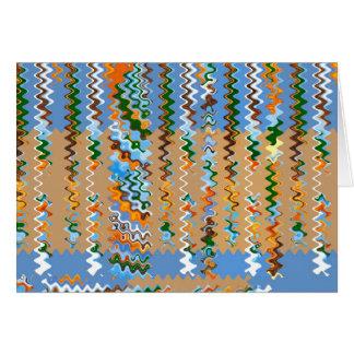 Cartão Ondas macias do sonho da cor: Aprecie a alegria da