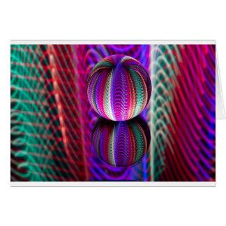 Cartão Ondas na bola de cristal