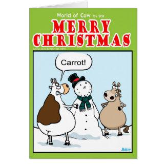 Cartão Onde está a cenoura?