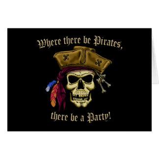 Cartão Onde haja piratas