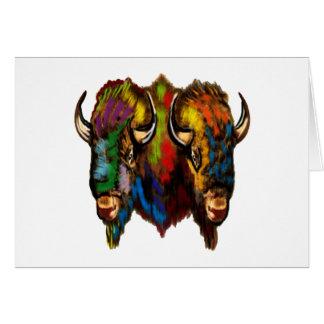 Cartão Onde o búfalo vagueia