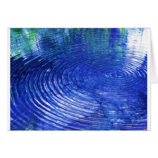 Cartão Ondinhas azuis