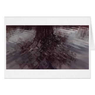 Cartão Ondinhas que cruzam-se em uma lagoa