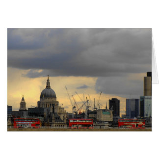Cartão Ônibus vermelhos de Londres