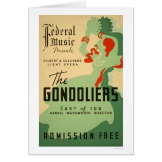 Cartão Ópera dos Gondoliers WPA 1937