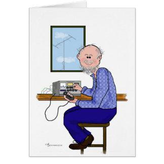 Cartão Operador de radioamador masculino - Balding,