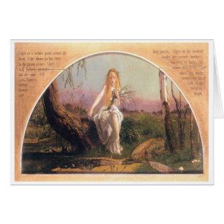 Cartão Ophelia, Arthur Hughes, 1852
