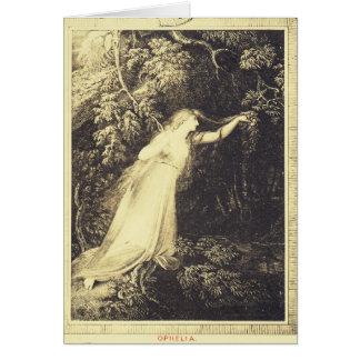 Cartão Ophelia de Hamlet