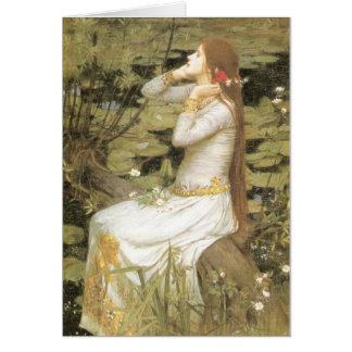 Cartão Ophelia pelo Waterhouse