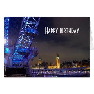 Cartão Opinião BRITÂNICA do olho de Londres da paisagem