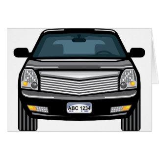 Cartão Opinião dianteira preta de SUV