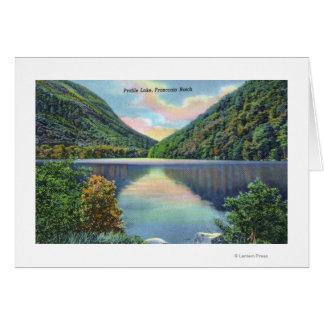Cartão Opinião do entalhe de Franconia do lago profile