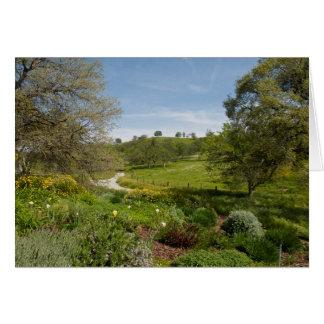 Cartão Opinião do jardim do pátio de entrada coberto