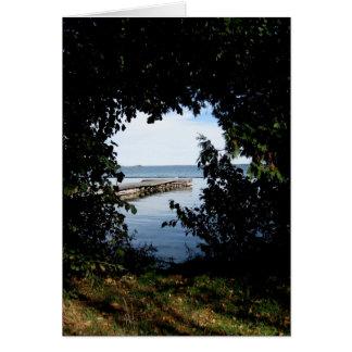 Cartão Opinião do lago window de Blank_Tree