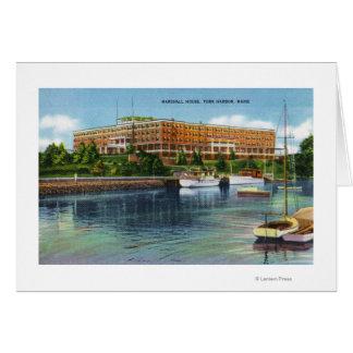 Cartão Opinião do porto de York da casa de Marshall