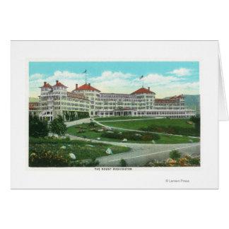 Cartão Opinião exterior do Fim-acima do hotel do Mt.