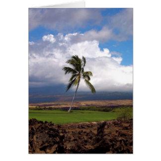 Cartão Opinião havaiana do campo de golfe