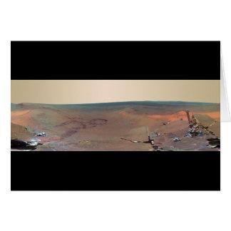 Cartão Oportunidade de Marte Rover do panorama do abrigo